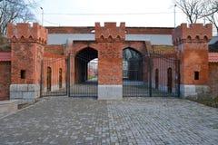 Railway Gate. Kaliningrad Stock Photography