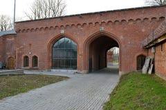 Railway Gate. Kaliningrad Royalty Free Stock Photo
