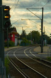 Railway in Germany Stock Images