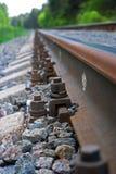 Railway goes far Royalty Free Stock Image