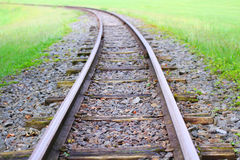 Railway goes to horizon Royalty Free Stock Photography