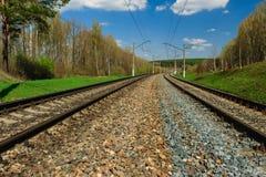 Railway goes to horizon Stock Photo