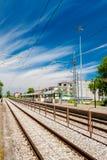 Railway goes to horizon Stock Photos