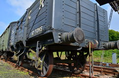 Railway goods wagon Stock Photos