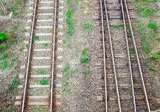 Railway in the grass. Stock Images