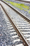 Railway on gravel Stock Photos