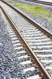 Railway on gravel Stock Photos