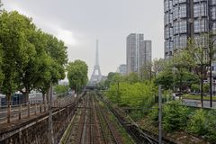 The railway on the Grenelle embankment Stock Photography