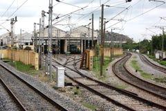 Railway Hangar Royalty Free Stock Photography