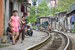 Railway, Hanoi, Vietnam Royalty Free Stock Image