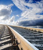 Railway in heaven Stock Image