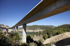 Railway and highway bridges Royalty Free Stock Images