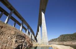 Railway and highway bridges Royalty Free Stock Photos