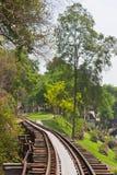 Railway historical World War 2. Kanchanaburi,Thailand Stock Images