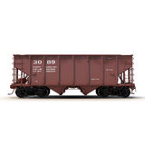 Railway Hopper Car on White 3D Illustration Royalty Free Stock Photo
