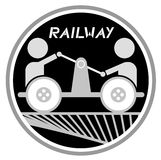 Railway icon Stock Photography