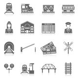 Railway Icon Set Royalty Free Stock Photo