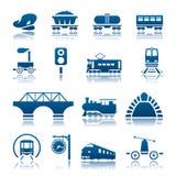 Railway icon set Stock Image