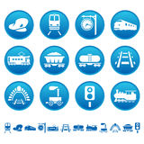 Railway icons Stock Images