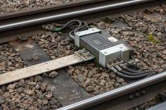 Railway Impedance bond stock photography