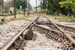Railway the important way for transportation. Royalty Free Stock Photo