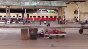 Railway in India stock footage