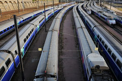 Railway Interchange station Royalty Free Stock Image