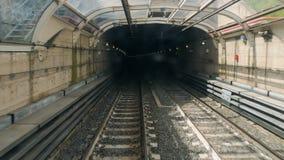 Railway Italy, Rome metro driverless train hyperlapse. Subway metro train in Rome hyperlapselapse, driverless train tecnology stock footage