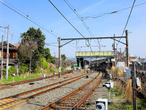 Railway in Japan Royalty Free Stock Photography