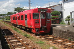 Railway of Japan's countryside. Railway of Japan in the countryside of the small station Stock Image