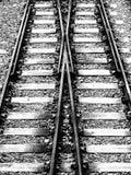 Railway junction Stock Image