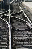 Railway junction. Details of railway junction track receding into distance Stock Photography