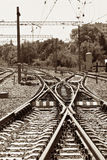 Railway junction Royalty Free Stock Image