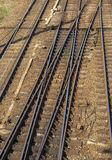 A railway junction Stock Photo
