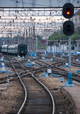Railway junction. Stock Photos