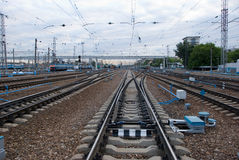 Railway junction. Stock Image