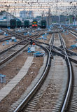 Railway junction. Royalty Free Stock Image