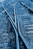 Railway junction in blue background 7 Stock Photography