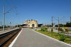 Railway junction of Kazatin, Ukraine Stock Photo