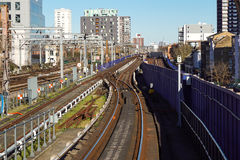 Railway junction of London bridge train station Royalty Free Stock Images