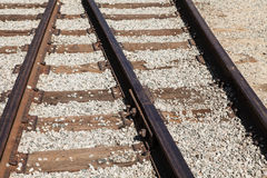 The railway junction. Railroad rails Stock Photos