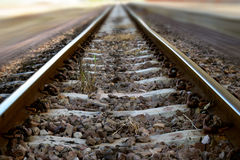 The railway junction  and speed motion background Royalty Free Stock Image