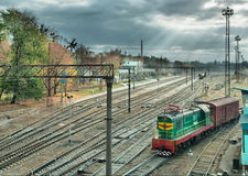 Railway junction station Royalty Free Stock Photo