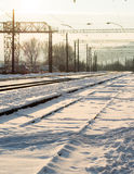 Railway junction station Royalty Free Stock Photography