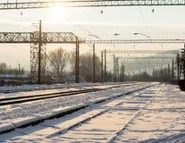 Railway junction station Stock Photo