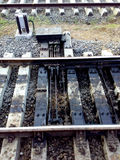 Railway junction track Royalty Free Stock Photo