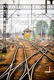 Railway junction. Tracks and station Stock Photography