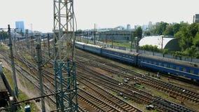 Railway junction. stock footage
