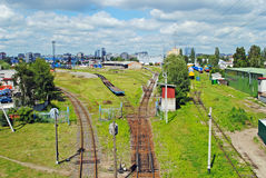 Railway in Kaliningrad Royalty Free Stock Image
