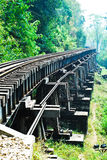 Railway in Kanchanaburi Stock Photography